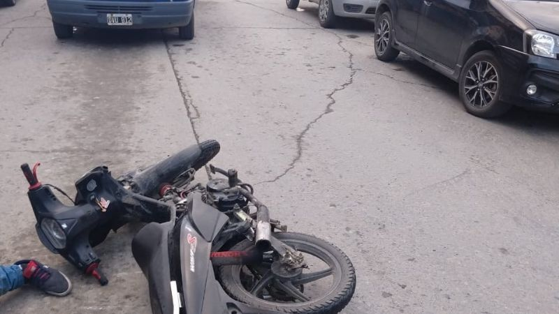 Se accidento en una moto sin documentación y alcoholizado